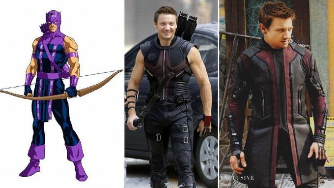 Œil de Faucon (Hawkeye) dans le comic book et sous les traits de Jeremy Renner dans les deux films Avengers I et II.