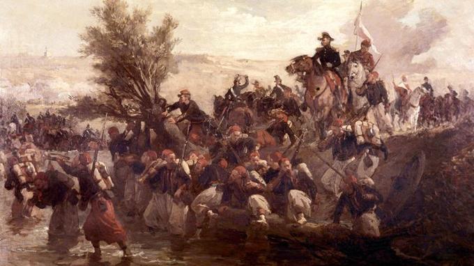 Bataille de l'Alma, le 20 septembre 1854. Tableau d'Isidore Pils, musée des Beaux-Arts de Marseille.