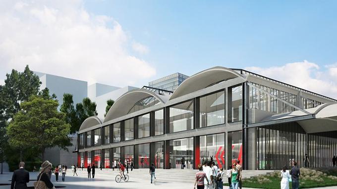 L'architecte a imaginé un lieu séparé en trois espaces: un forum comprenant un auditorium, un incubateur de start-up et un restaurant .