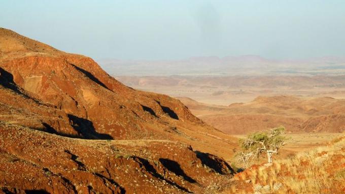 Le désert de Namibie.