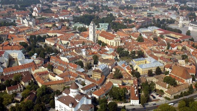 Le centre historique de Vilnius.