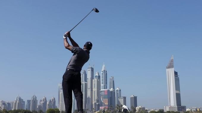 Tiger Wood à l'Emirates Golf durant une compétion en janvier 2014 (Crédit: Reuters)