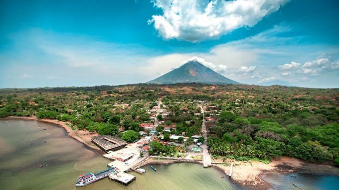 Vue aérienne du Nicaragua.