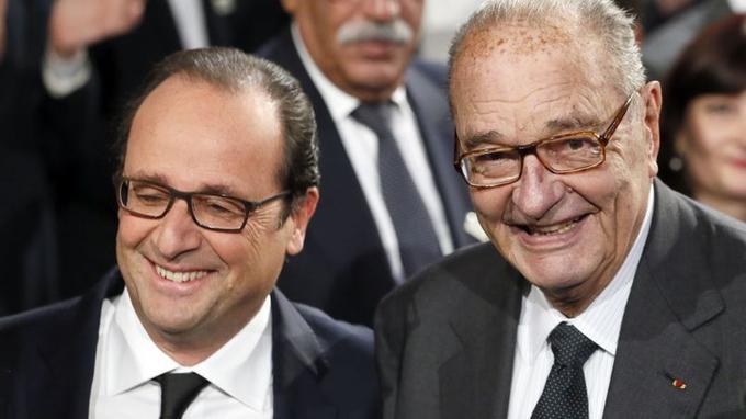 François Hollande et Jacques Chirac, vendredi.
