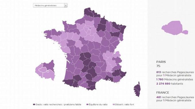Paris se trouve dans la moyenne, en étant ni un désert médical, ni une oasis.