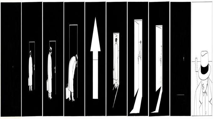 Séquence 1 réalisée par Marc-Antoine Mathieu, pour l'exposition <i>S.E.N.S </i>