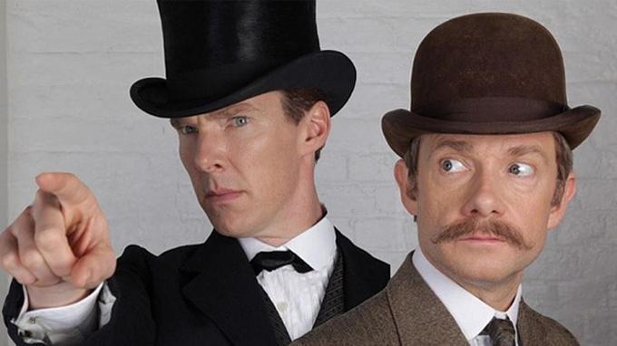 Pour cette nouvelle saison de Scherlock, Benedict Cumberbatch et son complice Martin Freeman ont un nouveau look.