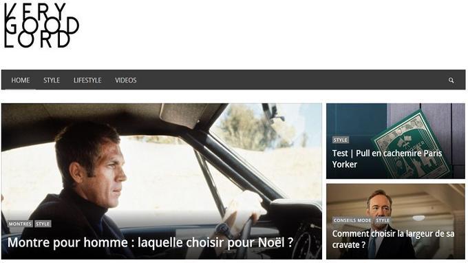 Capture d'écran de la page d'accueil (Crédit: Very Good Lord)