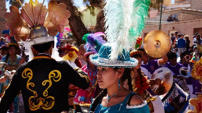 Début septembre, les indiens du désert convergent vers Ayquina pour célébrer la vierge Guadalupe.