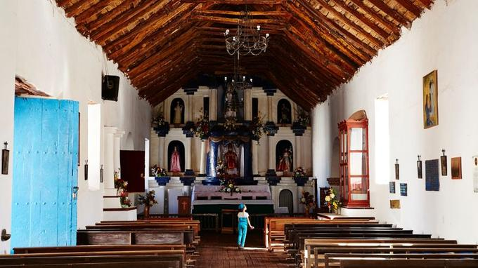 Construite au XVIIe siècle, l'église de San Pedro serait l'une des plus anciennes du Chili.