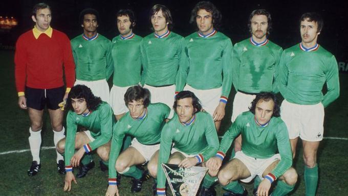 Les «Verts» affrontent le Dynamo de Kiev en 1976.