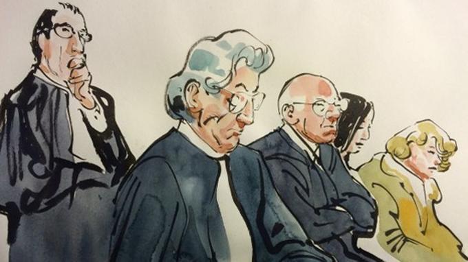 François Boucq a publié sept dessins concernant la procès tant attendu qui a débuté lundi.