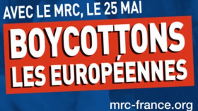 Affiche du MRC pour les élections européennes de mai 2014