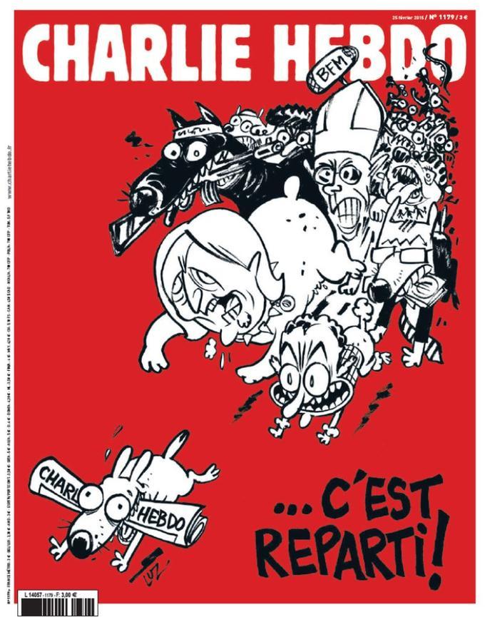 Une du n°1179 de <i>Charlie Hebdo.</i>