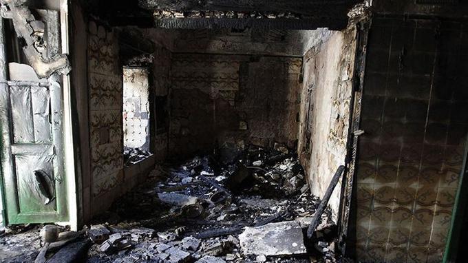 Le mausolée de Saïda Manoubia en cendres après l'attaque des islamistes.