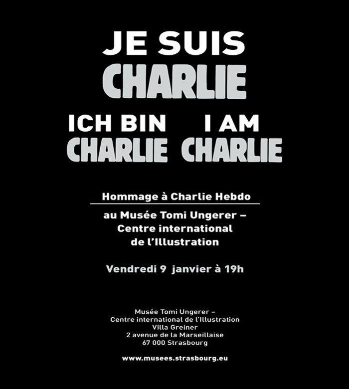 Affiche annonçant l'hommage