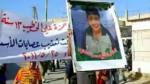 Syrie : Hamza, torturé à 13 ans, emblème de la révolution