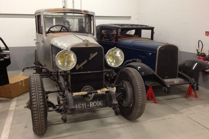 Réputés pour leurs restaurations d'avant-guerre, les Ateliers Lecoq continuent cette activité comme l'atteste cette Hispano-Suiza.