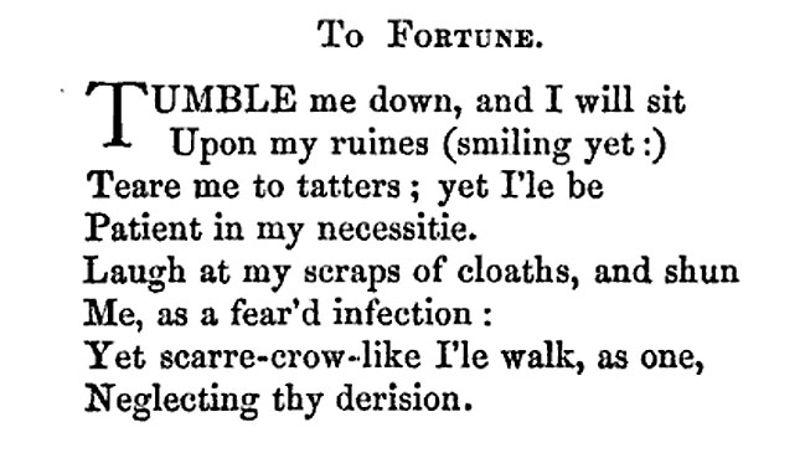 poème datant