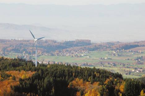 Des éoliennes fournissent la commune de Freiamt en électricité.