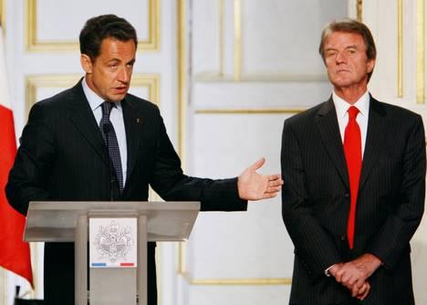 Nicolas Sarkozy et Bernard Kouchner, le 24 juillet dernier à l'Elysée.