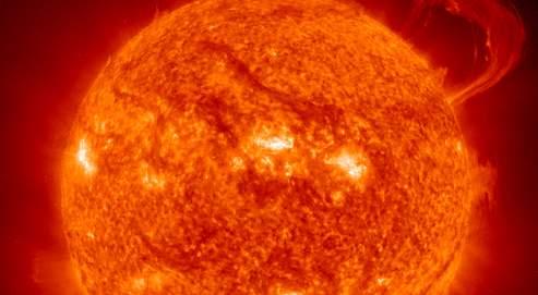 Le soleil vu d'un téléscope (DR).