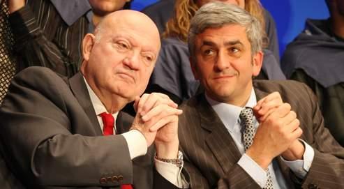 Quinze jours après le congrès fondateur du MoDem, Hervé Morin (à droite) et André Santini ont réuni, hier à Paris, le premier conseil national du Nouveau Centre.
