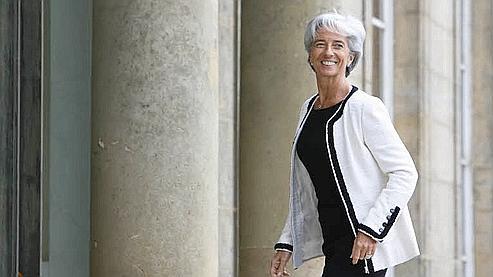 Christine Lagarde a commenté l'actualité boursière de Bruxelles, où elle rencontre actuellement ses homologues.