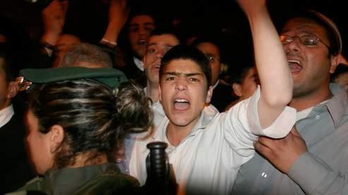Manifestation de Juifs ultraorthodoxes, jeudi soir à Jérusalem.