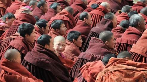 Les moines bouddhistes sont à l'origine de la plupart des manifestations. (AFP PHOTO/Mark RALSTON)