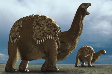 7 mètres de haut, 120 tonnes. La tortue a bien évolué, puisque ce Tortunosaure « pèse » quarante éléphants.