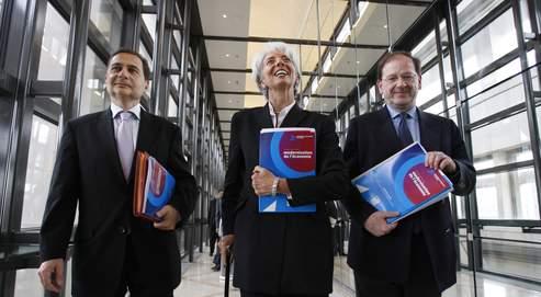 M. Besson, Mme Lagarde et M. Novelli