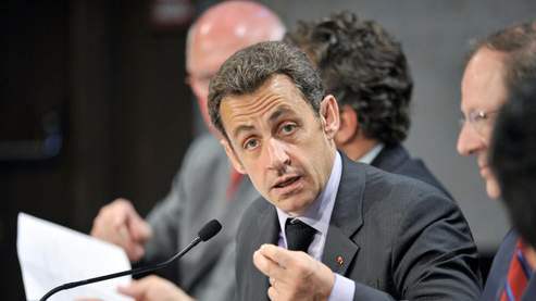 Nicolas Sarkozy, mardi 13 mai à Vienne.