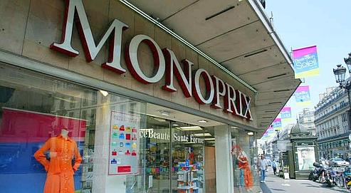 Magasin Monoprix avenue de l'0péra à Paris. (photo Richard Vialeron/Le Figaro)