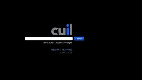 L'interface graphique de Cuil est, à l'image de Google, réduite à son minimum. Une version française de Cuil est attendue pour la fin de l'année.