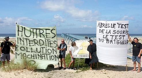 Huîtres d'Arcachon: la colère des élus et des ostréiculteurs