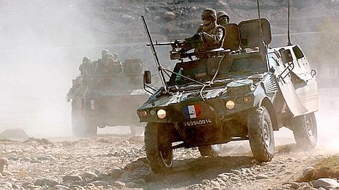 Une patrouille française près de Kaboul en 2006.
