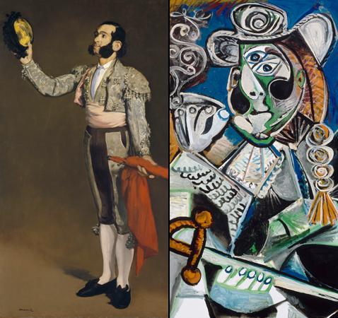 Matador saluant, Edouard Manet et Le Matador, Pablo Picasso (détails)