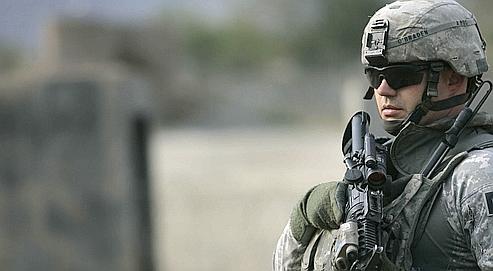 Un soldat américain monte la garde près de la frontière pakistanaise, le 27 octobre dernier.