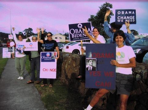 HAWAÏ (1) - Ces habitants du nord de la «Grande Ile»(Big Island) d'Hawaï, «poursuivent l'effort» et n'oublient pas les elections locales «qui sont aussi importantes que les elections nationales!!!»