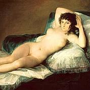 La «Maja desnuda» de Goya (détail)