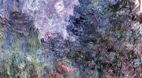 «Maison de Giverny vue du jardin aux roses» de Monet exposé au Musée Marmottan.
