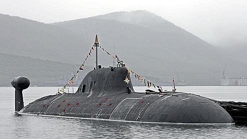 Un sous-marin russe Akula, pris en photo en juillet 2007. (AP)
