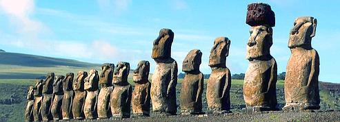 Un moai à Paris fait rêver<br />l'île de Pâques<br />» height=»262″ class=»EC_photo» /></a></p> <p><font face=
