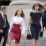 Carla Sarkozy et sa demi-soeur Consuelo Remmert à New York, en septembre dernier.