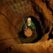 Un creuseur de tunnel palestinien.