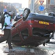 Une manifestation dégénère à Bruxelles. (Dominique Faget / AFP)