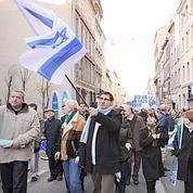 De 4.000 à 20.000 personnes ont défilé dans les rue de Marseille pour soutenir Israël. (Michel Gangne)