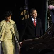 Michelle et Barack Obama quittent Blair House.
