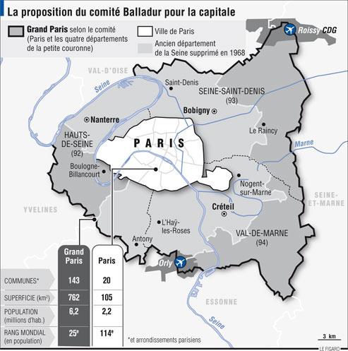 Un Grand Paris constituéavec la petite couronne